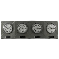 Buy Cooper Classics Terminal 35x11 Wall Clock in Grey on sale online