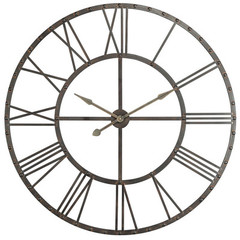 Buy Cooper Classics Upton 44.5 Inch Round Clock in Aged Bronze on sale online