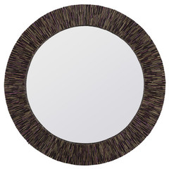 Buy Cooper Classics Voltaire 31 Inch Round Mirror in Natural Coconut Stick on sale online