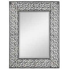 Buy Cooper Classics Warren 34x26 Mirror in Distressed Dark Silver on sale online