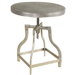 Buy Cooper Classics Watford 22 Inch Round Side Table in Burnished Silver on sale online