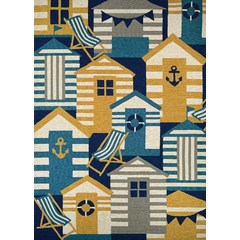 Buy Couristan Outdoor Escape Area Rug in Navy, Multi on sale online