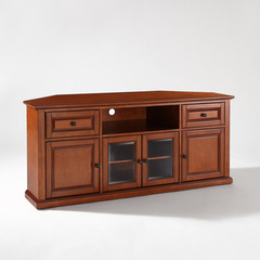 Buy Crosley Furniture 60x24 Corner TV Stand in Classic Cherry on sale online