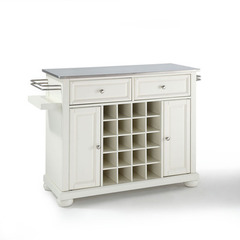 Buy Crosley Furniture Alexandria Stainless Steel Wine Island in White on sale online