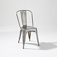 Buy Crosley Furniture Amelia Metal Cafe Chair in Galvanized - Set of 2 on sale online