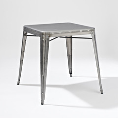 Buy Crosley Furniture Amelia Square Metal 26x26 Cafe Table in Galvanized on sale online
