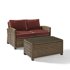 Buy Crosley Furniture Bradenton 2 Piece Outdoor Seating Set w/ 2 Cushions on sale online