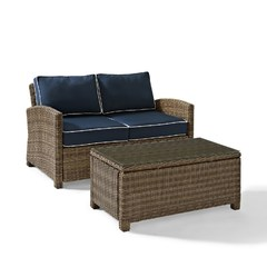 Buy Crosley Furniture Bradenton 2 Piece Outdoor Seating Set w/ Loveseat on sale online