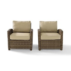 Buy Crosley Furniture Bradenton 2 Piece Outdoor Seating Set w/ Sand Cushions on sale online