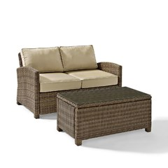 Buy Crosley Furniture Bradenton 2 Piece Outdoor Set w/ Glass Top Table on sale online