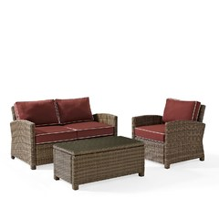 Buy Crosley Furniture Bradenton 3 Piece Outdoor Seating Set w/ Arm Chair on sale online