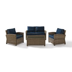 Buy Crosley Furniture Bradenton 4 Piece Seating Set w/ 2 Arm Chairs on sale online