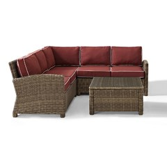 Buy Crosley Furniture Bradenton 4 Piece Seating Set w/ Cushions on sale online