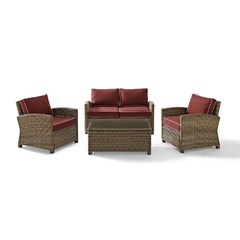 Buy Crosley Furniture Bradenton 4 Piece Seating Set w/ Loveseat on sale online