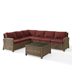 Buy Crosley Furniture Bradenton 5 Piece Outdoor Wicker Seating Set on sale online