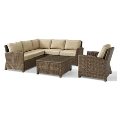 Buy Crosley Furniture Bradenton 5 Piece Seating Set w/ 2 Arm Chairs on sale online