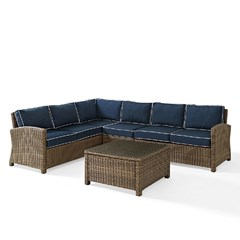 Buy Crosley Furniture Bradenton 5 Piece Seating Set w/ Navy Cushions on sale online