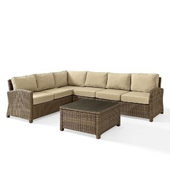 Buy Crosley Furniture Bradenton 5 Piece Seating Set w/ Sand Cushions on sale online