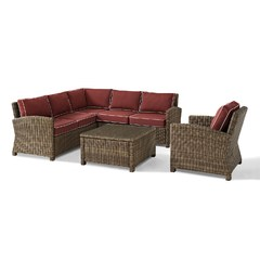 Buy Crosley Furniture Bradenton 5 Piece Wicker Seating Set w/ Cushions on sale online