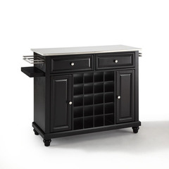 Buy Crosley Furniture Cambridge Stainless Steel Wine Island in Black on sale online