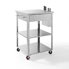 Buy Crosley Furniture Culinary Prep Kitchen Cart in Stainless Steel on sale online