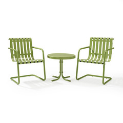 Buy Crosley Furniture Gracie 3 Piece Metal Outdoor Conversation Seating Set in Oasis Green on sale online