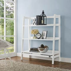 Buy Crosley Furniture Landon Bookcase in White (prev Wide Etagere) on sale online