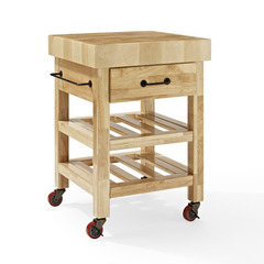 Buy Crosley Furniture Marston Butcher Block Kitchen Cart in Natural on sale online