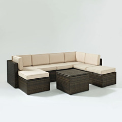 Buy Crosley Furniture Palm Harbor 8 Piece Outdoor Wicker Seating Set on sale online
