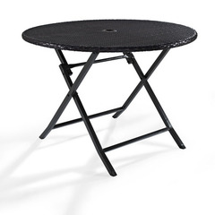 Buy Crosley Furniture Palm Harbor Outdoor Wicker Round 41x41 Folding Table on sale online