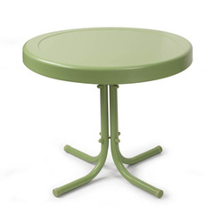 Buy Crosley Furniture Retro Round Metal 20x20 Side Table in Oasis Green on sale online