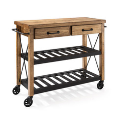 Buy Crosley Furniture Roots Rack Industrial Kitchen Cart in Pine on sale online