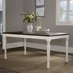 Buy Crosley Furniture Shelby 65x36 Rectangular Dining Table in White Finish on sale online