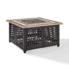 Buy Crosley Furniture Tucson 40x40 Outdoor Fire Table w/ Stone Top on sale online