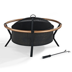 Buy Crosley Furniture Yuma Copper Ring Firepit in Black on sale online