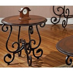 Buy Steve Silver Crowley 26 Inch Round End Table in Cherry on sale online