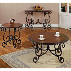 Buy Steve Silver Crowley 3 Piece Occasional Table Set in Cherry on sale online