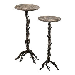 Buy Cyan Design 14 Inch Round Large Rustico Twist Stand Accent Table on sale online