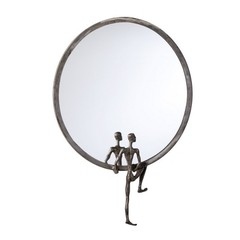 Buy Cyan Design 18 Inch Round Kobe Mirror Number 1 in Grey on sale online
