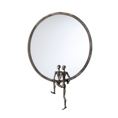 Buy Cyan Design 18 Inch Round Kobe Mirror Number 2 in Grey on sale online
