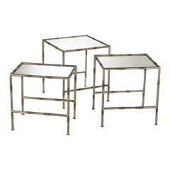 Buy Cyan Design 18 Inch Square Bamboo Nesting Tables (Set of 3) on sale online