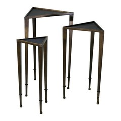 Buy Cyan Design 19x16.5 Inch Triangle Nesting Tables (Set of 3) on sale online