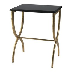 Buy Cyan Design 20x15 Inch Black with Gold Legs Accent Table on sale online