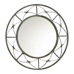 Buy Cyan Design 24 Inch Round Parker Mirror in Grey on sale online