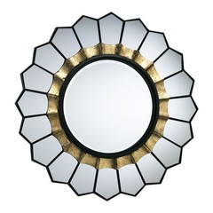 Buy Cyan Design 32 Inch Round Tempe Mirror in Black and Gold on sale online