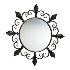 Buy Cyan Design 36 Inch Round Lorenzo Mirror in Black on sale online