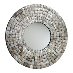 Buy Cyan Design 36 Inch Round Mosaic Tile Mirror in Multicolor on sale online