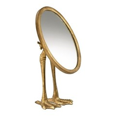 Buy Cyan Design 7 Inch Round Duck Leg Mirror in Gold on sale online