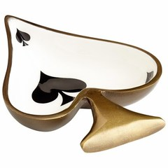 Buy Cyan Design Ace Contemporary Tray in Bronze, White and Black on sale online