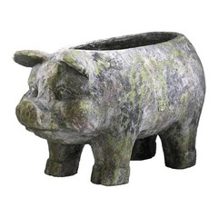 Buy Cyan Design Aged Pig Planter in Moss Green on sale online